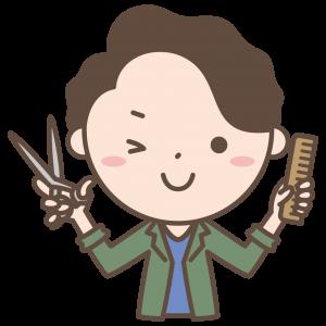 男美容師ウインク